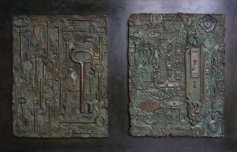 «Questions-Réponses». Bronze. 67x45 cm