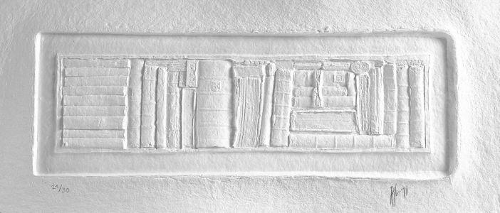 « Écrits blancs I ». Sculpture sur papier. 110x58 cm