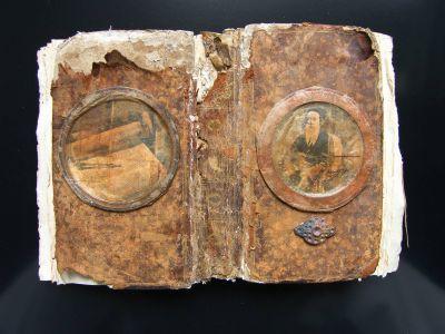 «Le Texte». Techniques mixtes. 26x18 cm