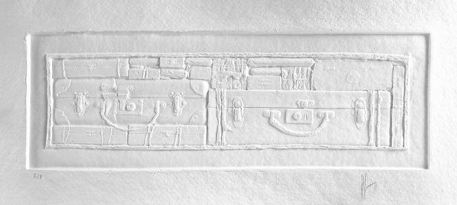 « Errance blanche III ». Sculpture sur papier. 94x36 cm