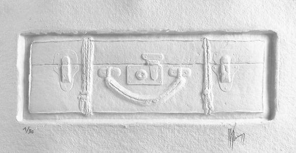 « Errance blanche II ». Sculpture sur papier. 52x26 cm
