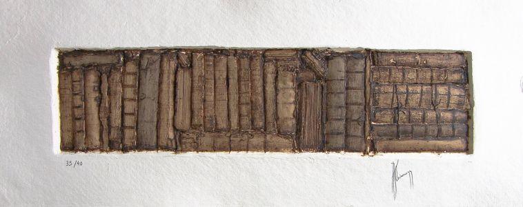 « Écrits II ». Sculpture sur papier. 94x36 cm