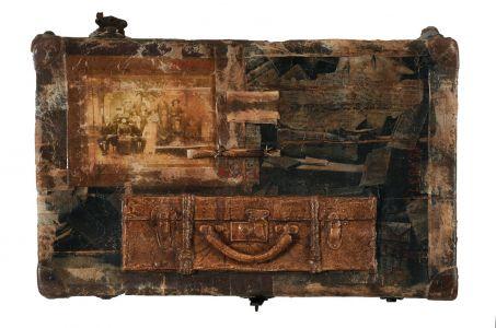 « Un voyage ». Techniques mixtes. 60x40 cm