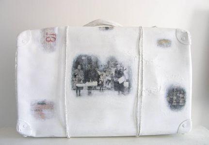 « Mémoire de valise I ». Techniques mixtes. 45x34x15 cm